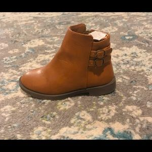 Toddler Girl Brown Ankle Booties